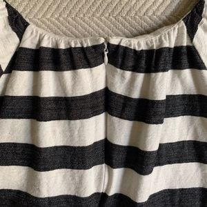 Ann Taylor Tops - Black & White Striped Short Sleeve - 2P